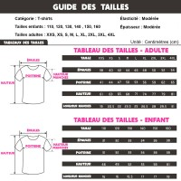 Guide tailles t-shirt Fall Guys