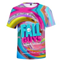 T-shirt Fall Guys Logo Fond coloré