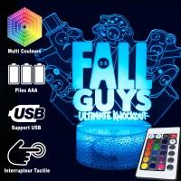 Lampe Fall Guys 3D caractéristiques télécommande