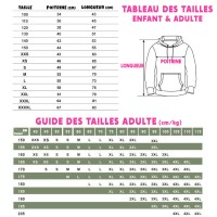Guide tailles sweat Fall Guys